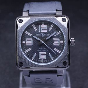 Copy Watches Bell & Ross BR01-92 Carbon Black Finish Instrument Watch [02d9]