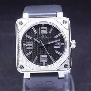 Copy Watches Bell & Ross BR01-92 Carbon Silver Finish Instrument Watch [b07d]